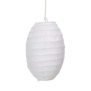Naje Herringbone Pendant White – ABC Carpet & Home