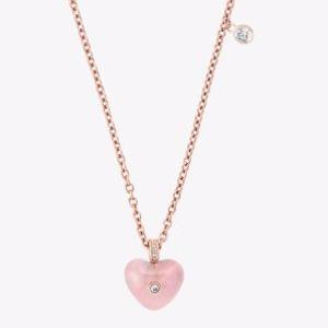 Rose Gold-Tone Heart Pendant Necklace