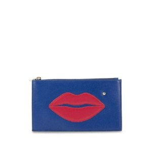 Charlotte Olympia Pouty Textured Leather Pouch