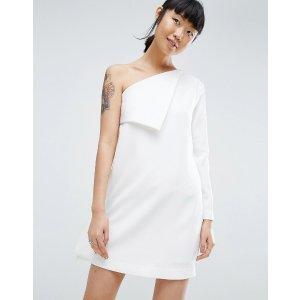 ASOS White | ASOS WHITE Foldover Sleeve Mini Dress