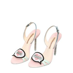 SOPHIA WEBSTER - 100MM MISS THANG GLITTER LEATHER SANDALS