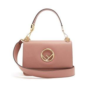 Kan I Logo leather shoulder bag