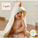 3 Sprouts 可爱小鸡图案宝宝专用毛巾,有机棉哦