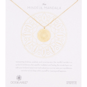 14K Gold Plated The Mindful Mandala Necklace