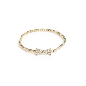 South Moon Under Bow Tie Gold Stretch Bracelet | South Moon Under