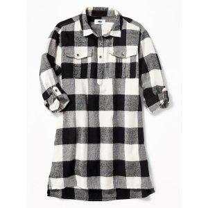 Plaid Shirt Dress for Girls