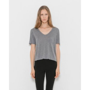 Classic Cropped Tee w/ Chest Pocket