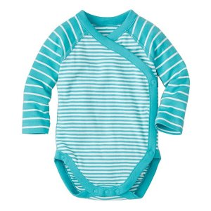 Baby Crossover One Piece In Organic Cotton | Baby Features Bright Baby Basics