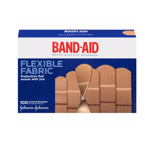 Band-Aid Flexible Fabric Premium Adhesive Bandages, 100 Ct  by Band-Aid