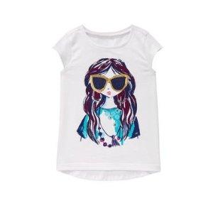 Girls White Sunglasses Girl Tee by Gymboree