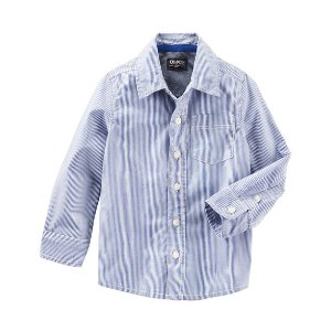 Kid Boy Striped Button-Front Shirt | OshKosh.com