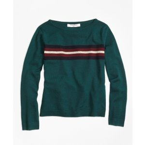 Merino Wool Boatneck Sweater - Brooks Brothers