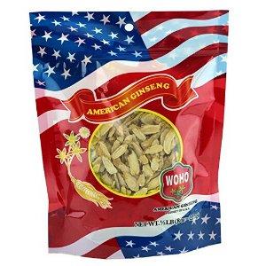 WOHO American Ginseng 125.8 Small Slice Bag 8oz