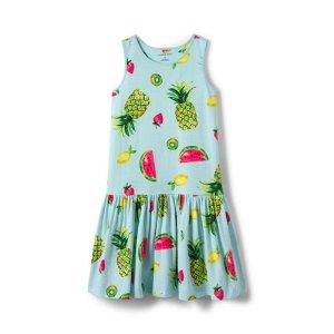 Girls Sleeveless Drop Waist Knit Tank Dress from Lands' End
