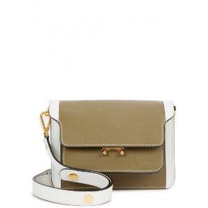 Marni Trunk mini saffiano leather shoulder bag