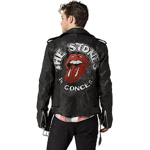 ROLLING STONES LEATHER JACKET | Tommy Hilfiger
