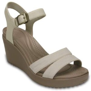 Leigh II Ankle Strap Comfortable Wedge Sandals - Crocs