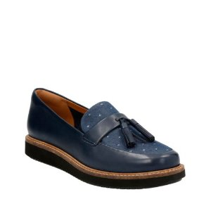 Glick Castine Navy Leather - Women's Casual Shoes - Clarks® Shoes Official Site