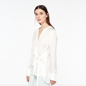 Long-Sleeved Top With Tie Fastening - Tops & Shirts - Sandro-paris.com