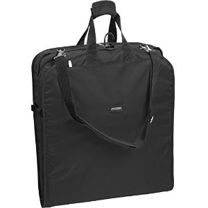 WallyBags 45 Inch Extra Wide and Large Capacity Garment Bag, Black, One Size