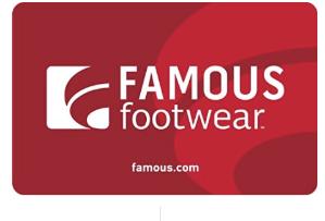 $40收 立减$10Famous Footwear 礼卡$50