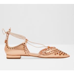 Laser cut leather pumps - Rose Gold | Shoes | Ted Baker