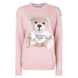 Teddy Bear Print Wool Dress