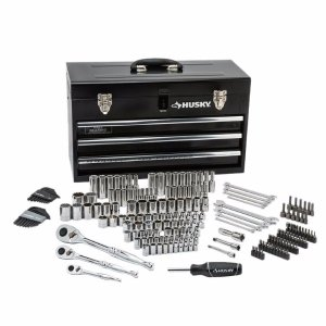 $99Husky Mechanics Tool Set in Metal Box (200-Piece)
