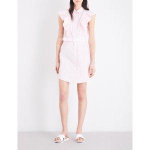 CLAUDIE PIERLOT - Rose cotton-poplin dress