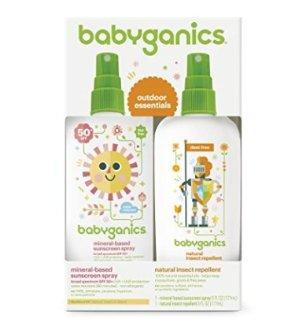 $11.19Babyganics 婴儿保湿防晒喷雾大瓶装 6oz加天然防虫喷雾大瓶装 6oz 套装