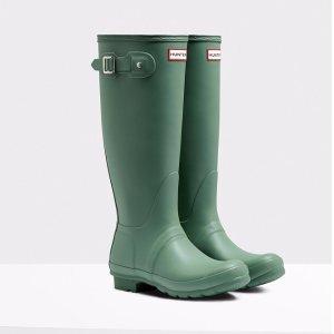 Womens Green Tall Rain Boots | Official US Hunter Boots Store