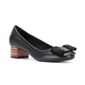 Salvatore Ferragamo Multicolour Heel 'Vara' Pumps - Farfetch