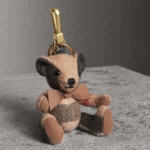 Thomas House Check Cashmere Bear Keychain