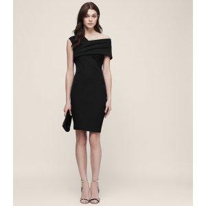 Cristiana One-Shoulder Cocktail Dress - REISS
