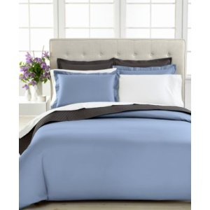 CLOSEOUT! Charter Club Damask Solid 500 Thread Count Pima Cotton Duvet Cover, Created for Macy's