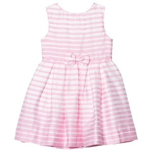 Rachel Riley Pink and Ivory Stripe Party Dress | AlexandAlexa