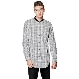 Nash Longline Plaid Shirt | GUESS.com