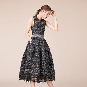 RING Long bonded lace dress - Dresses - Maje.com
