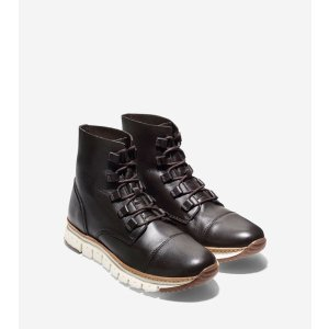 ZEROGRAND Cap Toe Boots in Java Leather | Cole Haan