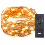 TaoTronics 33ft 100 LED String Lights With RF Remote Control