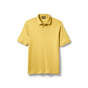 Men's Short Sleeve Supima Polo Shirt from Lands' End