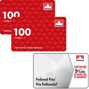 Petro-Canada™ 礼卡 + $25加油Savings 卡