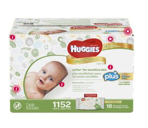 $19.99Huggies Natural Care Plus Baby Wipes 1,152-count