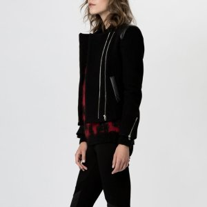 GENKIA Leather jacket with double zips - Coats & Jackets - Maje.com