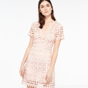Geometric Lace Dress - Dresses - Sandro-paris.com