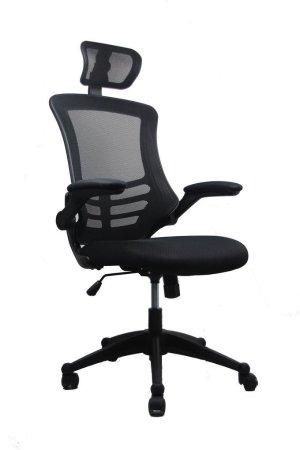 亚马逊史低 $37.00现代高背透气办公椅 (含颈托和可翻折扶手)