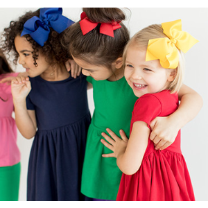 Bright Kids Basics Dress from Hanna Andersson