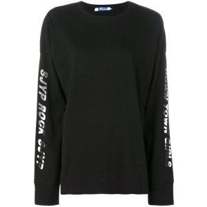 SJYP printed sleeves sweatshirt