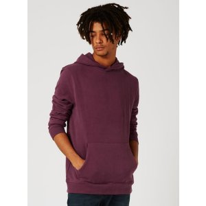 Purple Soft Touch Classic Fit Hoodie - View All Clearance - Clearance - TOPMAN USA