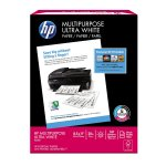 HP Paper, Multipurpose Ultra Poly Wrap, 20lb, 8.5 x 11, Letter, 96 Bright, 161 whiteness, 500 Sheets / 1 Ream (212500R)